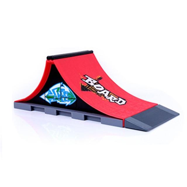 Nuevo Plástico Skate Park Parque Rampa de Piezas para Diapasón Finger Skate Patinetas Un ABS Regalos de Navidad