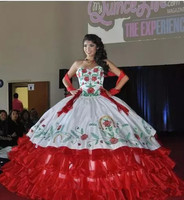 Bonjean Новый китайский стиль Роза вышитая бальное платье Бальные платья 2019 Роскошные Милая Сладкий 16 платье Vestido de 15 Anos