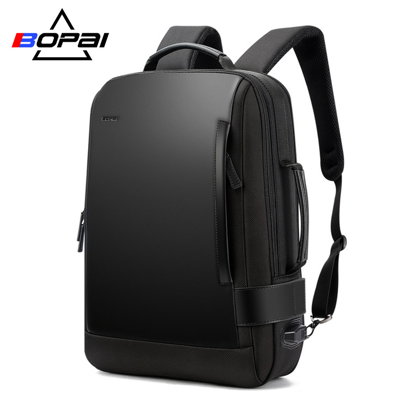 BOPAI Size Expanded Backpack Men s Laptop Backpack 15 6 Inch Water Repellent Men Backpack School