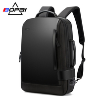 BOPAI Size Expanded Backpack Men's Laptop Backpack 15.6 Inch Water Repellent Men Backpack School Bag USB Charge Back Pack