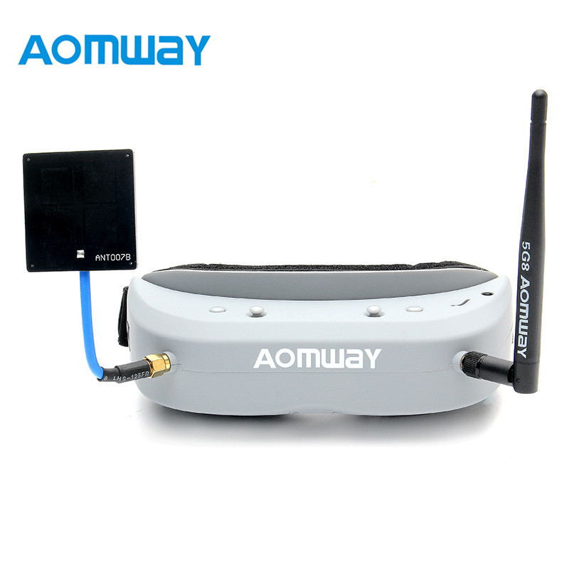 Aomway Commander Goggles V1 2D 3D 40CH 5.8G FPV Goggles Video Headset Support  DVR Headtracker For RC Camera Drone original aomway rx006 dvr video recorder 5 8g 48ch diversity raceband a v receiver for rc multicopter antenna transmitter part