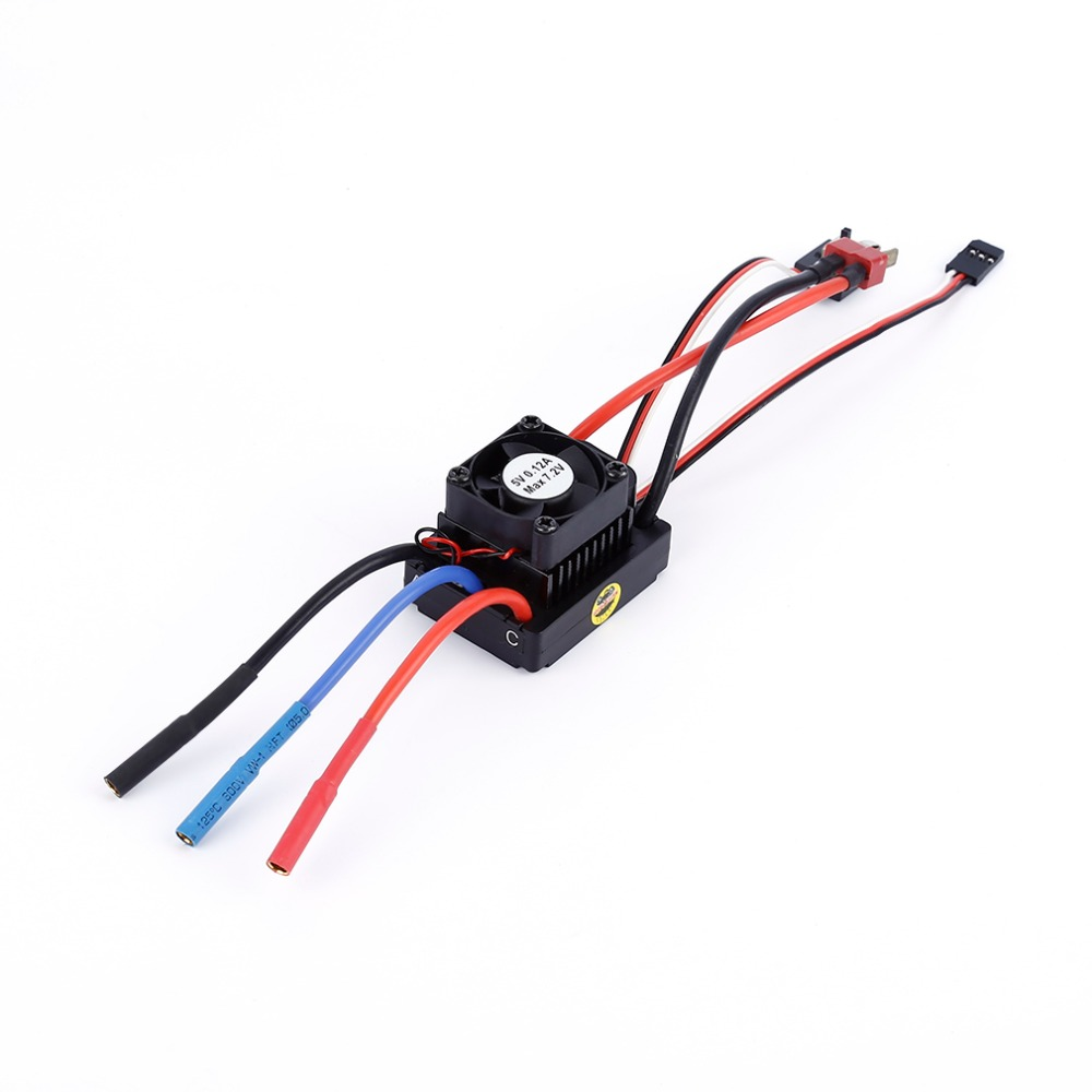 Waterproof brushless ESC 60A Sensorless Brushless motor for 1:10 RC Car Truck Electronic Speed Controller цена и фото