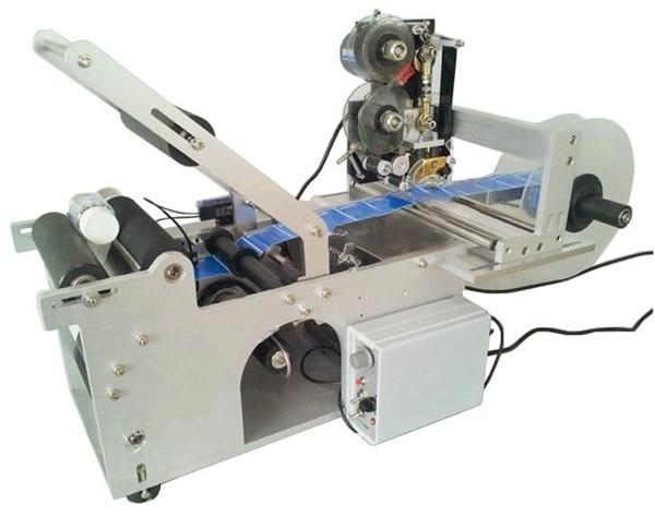 Deux En Un Semi Automatique De Bouteille Ronde Applicateur D'étiquettes avec Machine D'impression De Date