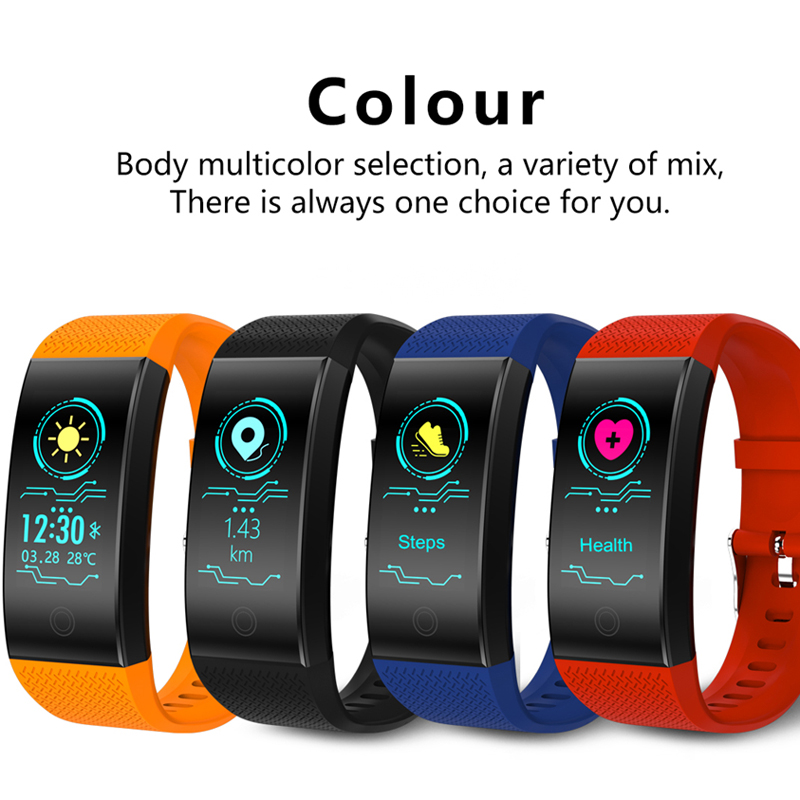 BW Fitness Smart Bracelet weather Heart Rate Monitor Blood Pressure Fitness Tracker Smart band Sport Watch for ios android Swim 5