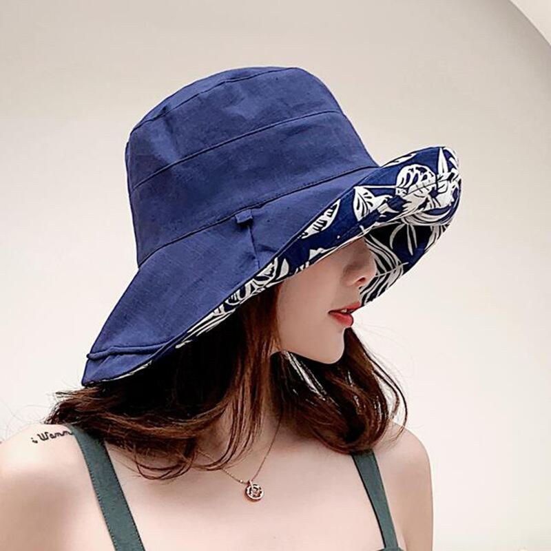 2019 New Women Hot Sun Hat Double Sided Print Fisherman Panama Cap Bob Chapeau Cotton Brand Summer Bucket Hat For Women Hip Hop