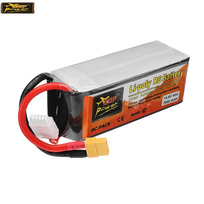 Hot New ZOP di Alimentazione 14.8 v 7000 mah 40C 4 s Batteria Lipo Ricaricabile XT60 Spina per RC Modelli drone Pezzi di Ricambio Acc