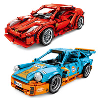 City Speed Champions Pull Back Super Racing Car Building Blocks Technic Racers Supercar Enlighten Bricks Children Toys Gift