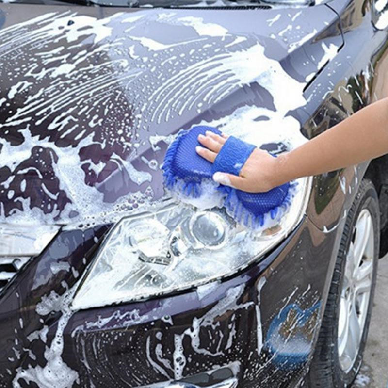 Ultrafine Fiber Chenille Anthozoan Car Wash Gloves Brushes Microfiber Motorcycle Washer Car Care Cleaning Brushes Accessories