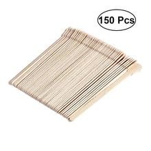 50/100/150/200pcs Wooden Waxing Spatulas Stick Tongue Depressor Disposable Wax Stick Bamboo Sticks Kit (Original Wooden Color)