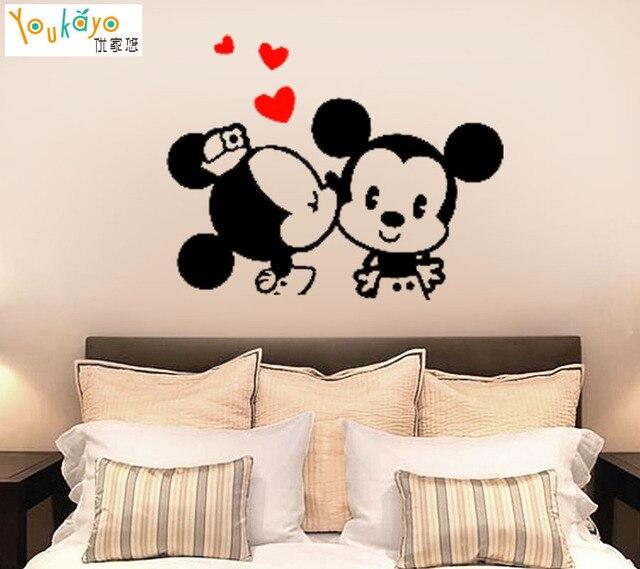 Mickey Maus Liebe Cartoon Wandtattoo Home Decor Kunstwand Vinyl ...