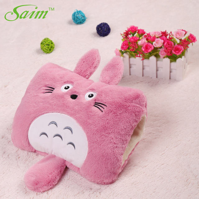 Saim Cute Totoro Hot Water Bottle Charging Bag Cat Plush Hand Warmer Electric Heating
