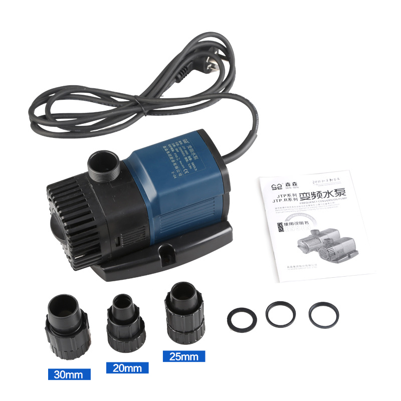 220V Variable Frequency Pump Mute Fish Tank Submersible Aquarium Pumping Fish Pond Pump Circulating Filter Pump 11W-38W taifu pump 4stm6 11