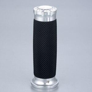 "Image 5 - 25mm 7/8"" Motorcycle Handlebar Hand Grips Aluminium Rubber Lining Fit For Honda Yamaha Suzuki Kawasaki"