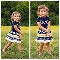 Leisure Summer Style 2017 baby girls clothing set children summer shorts suit 2pcs kids printed girls clothes set suit