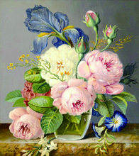New Diamond Mosaic  Embroidery Beads Love Vase Peony Flowers s Cross Stitch Painting Inlay Handwork