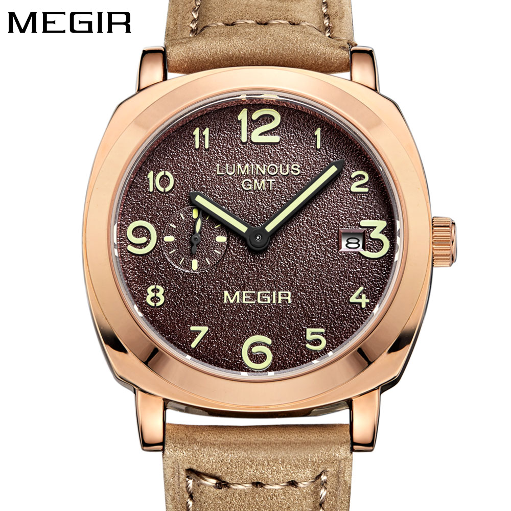 MEGIR luxury brand Watch Men Top Brand Luxury quartz Watches relogio masculino Deployment Wrist watch Men Gift
