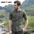 Men's 100% Cotton Shirt Free Army Brand-Clothing 2017 Summer New Army Tactical Shirt Casual Military Style Green Shirts MS-6090A