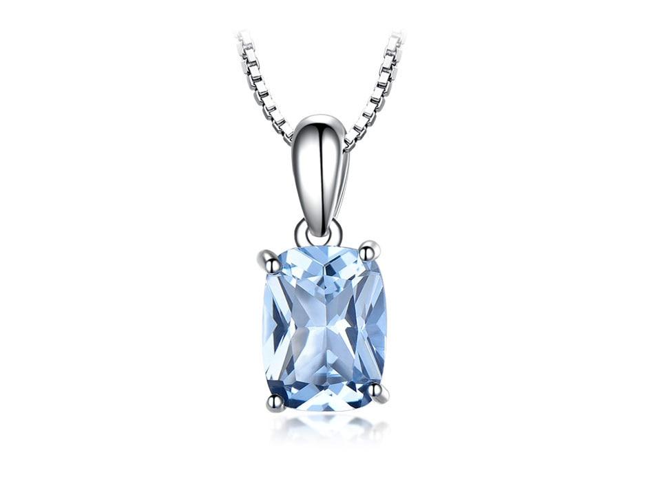 Honyy Sky blue topaz silver sterling jewelry sets for women EUJ054B-1-pc (2)