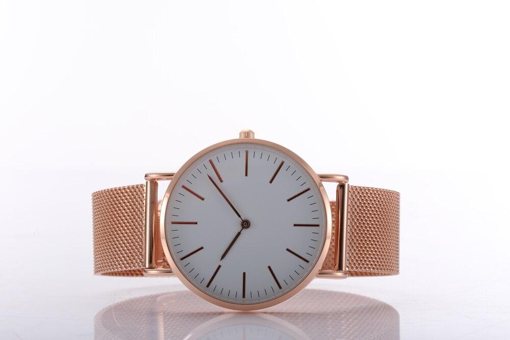 Sweden Design Watches Thin Case Japan Quartz Movement Stainless Steel Soft Straps brown strap thin case branded design watches no name japan quartz machine