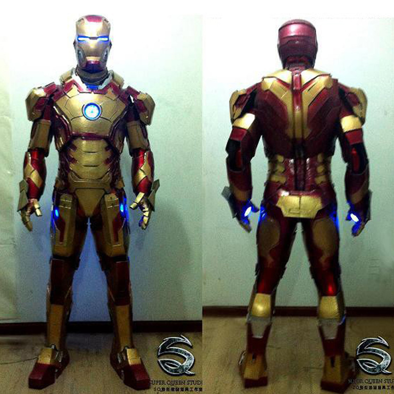 Iron man parties leds version of reality costumes suit bar activity armor Tony stark cosplay mark 47 Marvel цена
