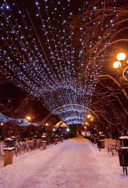 Laeacco Winter Snow Street Road Light Photography Backgrounds Vinyl Customized Photographic Backdrops Props For Photo Studio