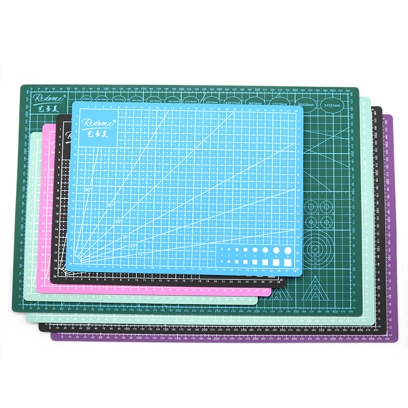 A3 PVC Cutting Mat Pad Fabric Leather Paper Craft A4 Patchwork DIY Tools Manual Cutting Mats Board Double-sided Self-healing