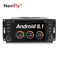 New Android 8.1 Car dvd multimedia player radio For Jeep Patriot Compass Wrangler Liberty 300C DODGE GPS Navigation WIFi BT RDS
