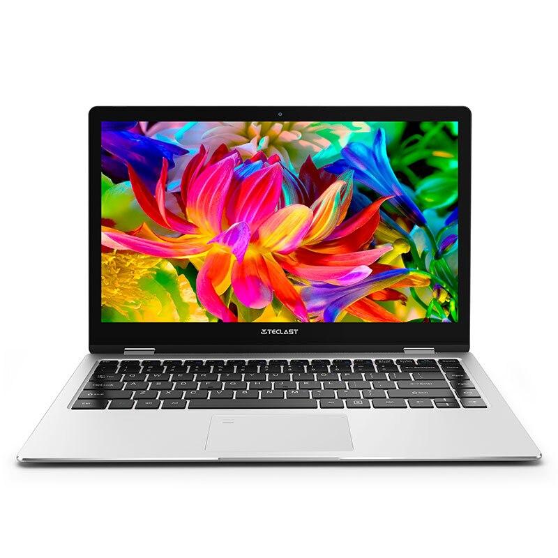 Teclast F6 Pro 8GB RAM 128GB SSD 13.3 inch IPS 1920x1080 Intel Core m3-7Y30 Windows 10 Fingerprint Recognition Silver Laptop