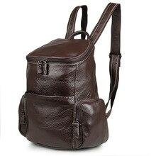 Vintage Coffee 100% Guarantee Real Skin Genuine Leather Small Women Backpacks Cowhide Cute Girl Backpack #M7336