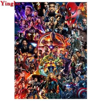 full square/round drill diy diamond painting Marvel Infinity War Superhero Avengers 5d embroidery diamond mosaic sale wall decor