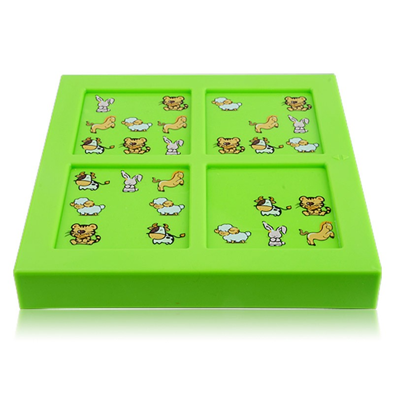 Quality New Kids Animal Maze Puzzle IQ Mind Logic Brain Teaser Puzzles Game Toys for Children 72 Questions 12