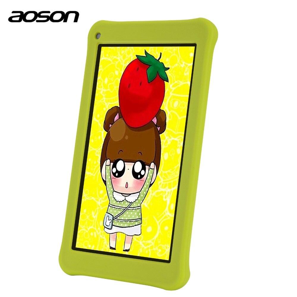 Образование мультфильм таблетки M753 7 дюймов android дети Tablet PC Android 7,0 16 ГБ Встроенная память 4 ядра планшет HD ips 1024*600 Bluetooth