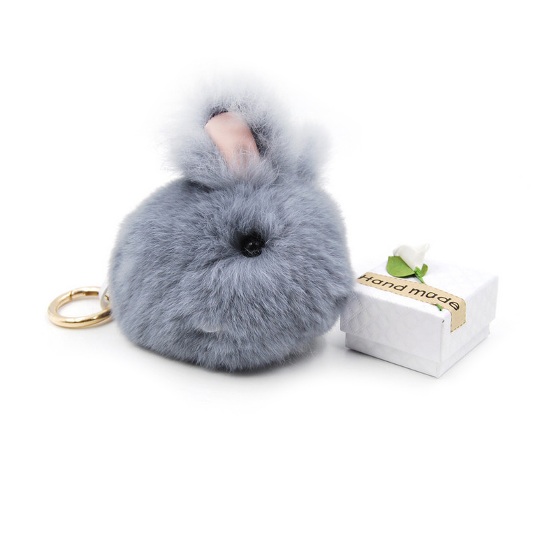 Super Cute Little Rabbit Pendant Meng Rabbit Hair Plush Rabbit Fur Female Bag Hanging Jewelry Car