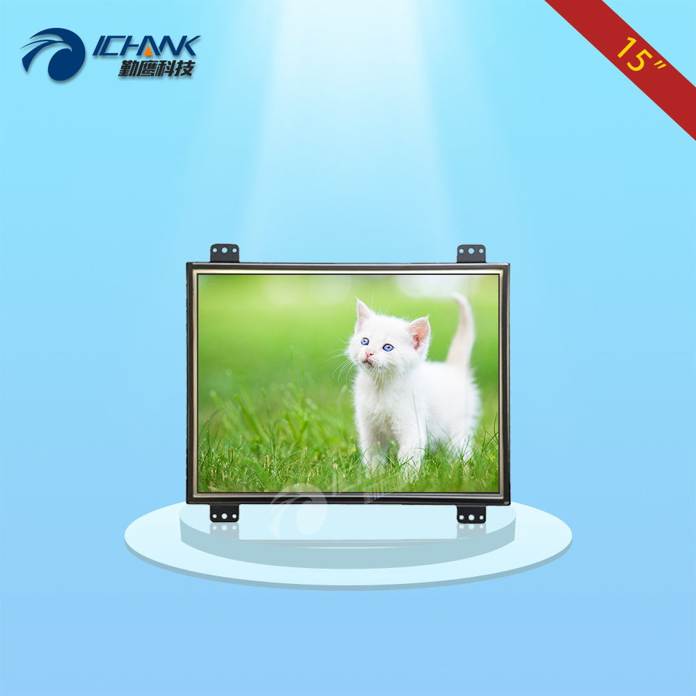 ZK150TN-DV/15 inch 1024x768 4:3 HD metal case Open frame&Embedded frame industrial equipment special monitor LCD screen display zk080tn lr 8 inch 1024x768 bnc vga hdmi metal case open embedded frame industrial medical equipment monitor lcd screen display