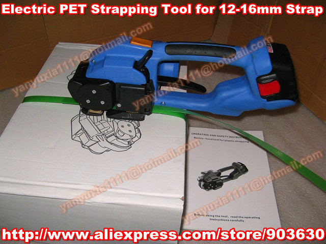 DD160 Portable & Electric PET/Plastic/PP Strapping Tool, Battery Powered PET Strapping Machine Packaging Tool for 12-16mm  цены