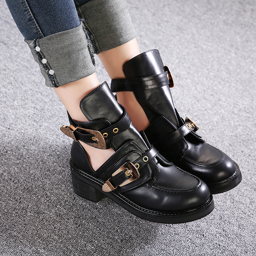 buckle cut out ankle boots | Gommap Blog