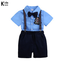 цена на Summer Baby Boys Clothes Set Children Clothing Sets Products Kids Clothes Baby Boys T-shirts+Pants 2PCS Tracksuit