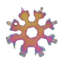 EDC инструмент 18-в-1 Многофункциональный Инструмент карты сочетание Компактная и портативный Открытый продукты Снежинка EDC Инструмент карты