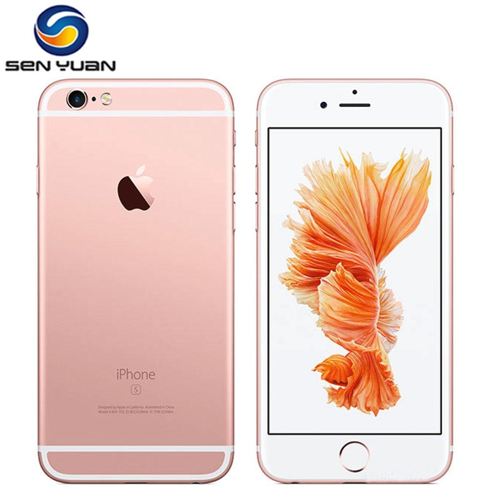 Разблокированный телефон Apple iPhone 6S, 4,7-дюймовый экран, iOS, 16/64/128 ГБ ПЗУ 2 ГБ ОЗУ, 12 Мп, два ядра A9, 4G LTE, бывший в употреблении смартфон, оригинал