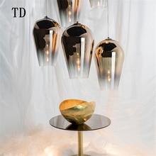 купить Nordic Piranha Glass LED  Lighting LOFT Pendant Lamp Modern Kitchen Living Room Dining Restaurant Hanging Lamp Cafe Bar Lights дешево