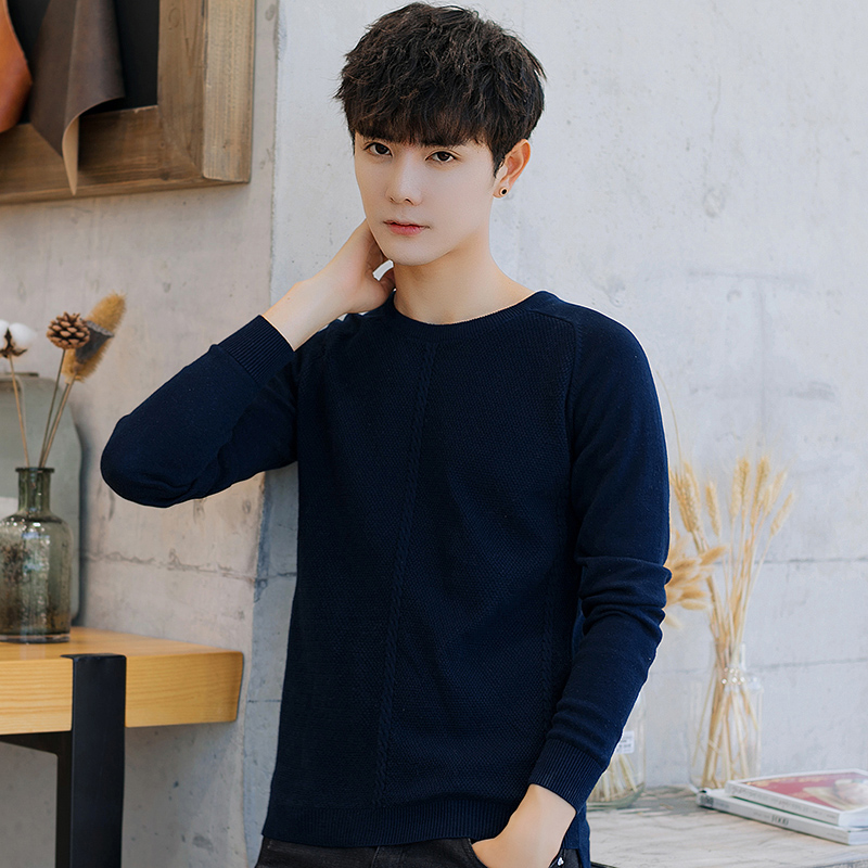 2019 Sweater Men O-Neck  Pullovers Sweater 's Male And 100% Cotton New Fashion Casual Long Sleeve For Mens Autumn M-3XL Hot Sale
