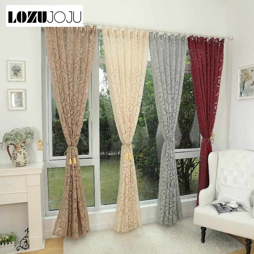 LOZOJOJU Endless strings jacquard curtain thread drops for living room bedroom windows brown fabric drapery free shipping tulle