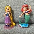 6 unids/lote PVC 9 CM figura de Anime princess Mermaid figura de acción conjunto para niños juguetes para niñas