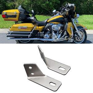 Image 1 - Крепление правой и левой стороны сломанного брызговика сиденья рельсовые Опорные кронштейны Стойка подходит Harley Davidson Touring FLT FLHT Ultra Classic