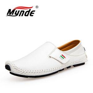 Image 3 - MYNDE חדש אופנה מוקסינים לגברים לופרס קיץ הליכה לנשימה נעליים יומיומיות גברים וו & לולאה נהיגה סירות גברים נעלי דירות