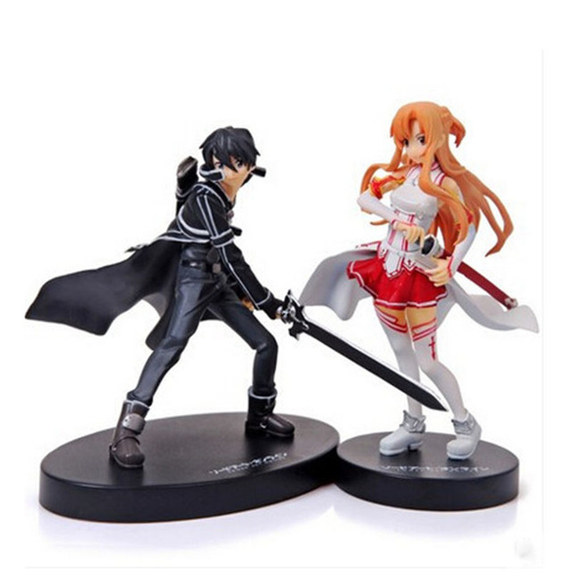 16cm Set of 2 Sword Art Online Asuna & Kirito