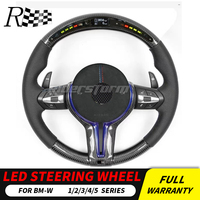 LED display carbon fiber Steering Wheel for BMW 1/2/3/4 series LED carbon steering wheel for F22/E90/E92/F30/F10 with leather