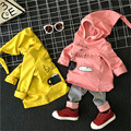 Lovely girl han edition of new fund of 2016 autumn joker magic hat hooded fleece baby long sleeve T-shirt free shipping