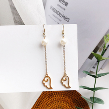 1 pair Elegant Female Geometric Earrings for Women Cute Animal Pierced Dangle Earrings Simple Personality Pendant Drop Earrings pair of cute kitten earrings for women