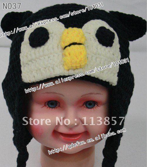 100 Cotton Cute Crochet Penguin Hat Free Beanie Knitting